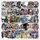 50PCS Fantasy Skull Halloween Waterproof Stickers Decals for Luggage Laptop Water Bottles