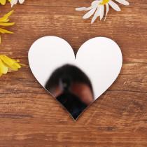 Heart-Shaped Door Room Acrylic Decorative Mirror Wall Stickers