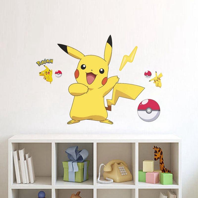 Pikachu Door Room Waterproof Decorative Wall Stickers