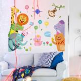 Animal Lion Giraffe Height Stickers Children's Room Kindergarten Classroom Layout Decorative Wall Stickers