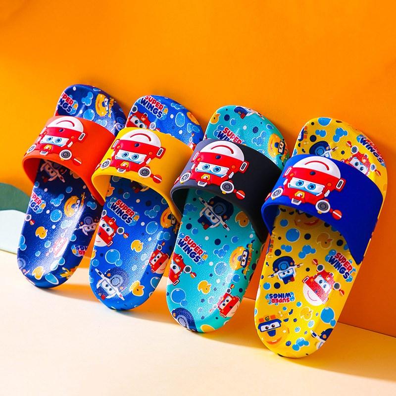 Toddlers Kids Super Flash Flat Beach Cartoon Summer Slippers