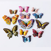 12PCS Double-Deck Luminous Butterfly Wall Stickers Door Room Magnetic Decorative