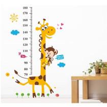 Giraffe Height Stickers Door Room Waterproof Decorative Wall Stickers