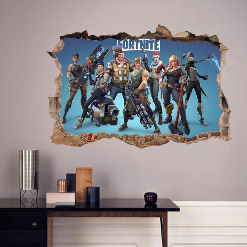 Fortnite Door Room Waterproof Decorative Wall Stickers
