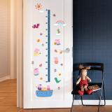 Peppa Pig Height Stickers Children's Room Kindergarten Classroom Layout Decorative Wall Stickers