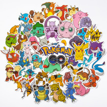 50PCS Pokemon Pikachu Waterproof Stickers Decals for Luggage Laptop Water Bottles