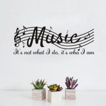 Musical Notation Door Room Waterproof Decorative Wall Stickers
