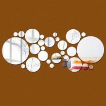 Geometry Round Door Room Acrylic Decorative Mirror Wall Stickers