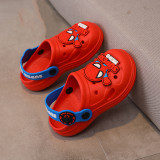 Toddlers Kids Cartoon Cute Spider Man Flat Beach Summer Slippers Sandals