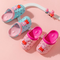 Toddlers Kids Peppa Pig Flat Beach Hole Shoes Summer Slippers Sandals