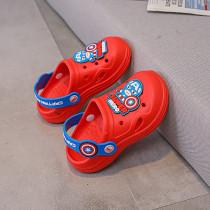 Toddlers Kids Cartoon Cute Captain America Flat Beach Summer Slippers Sandals