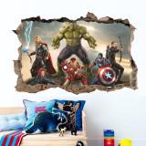 3D Marvel Heroes Iron Man Door Room Waterproof Decorative Wall Stickers