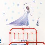 Frozen Elsa Princess Door Room Waterproof Decorative Wall Stickers