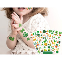 10 Sheets Patrick's Day Party Supplies Art Temporary Tattoos