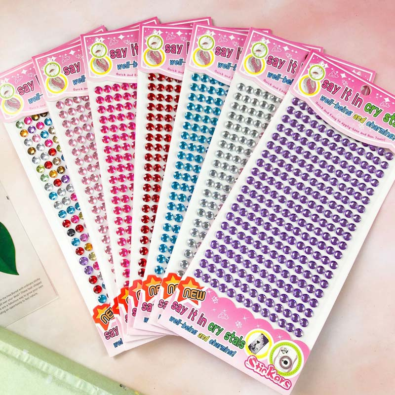 260PCS Colourful DIY Crystal Rhinestone Sticker Jewels Gems Sticker Set for Kids