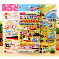 5 Sheets Excavator Vehicles 3D Foam Puffy Sticker for Kids Toddler