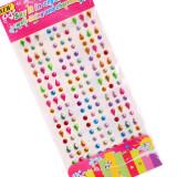3 Sheets Wave Drop Circle Colourful DIY Crystal Rhinestone Sticker Jewels Gems Sticker Set for Kids