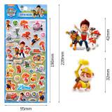 5 Sheets Cartoon PAW Patrol 3D Foam Puffy Sticker for Kids Toddler