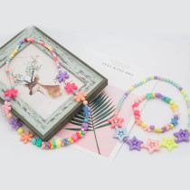 DIY Bracelet Colorful Candy Beads 24 Compartments PVC BoxSetJewelry Making Kit for Kids Gifts