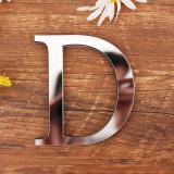 26 Letters DIY Slogan Door Room Acrylic Decorative Mirror Wall Stickers