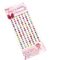 5 Sheets Flower Star Heart DIY Crystal Rhinestone Sticker Jewels Gems Sticker Set for Kids