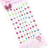 5 Sheets Pearl Stars DIY Crystal Rhinestone Sticker Jewels Gems Sticker Set for Kids