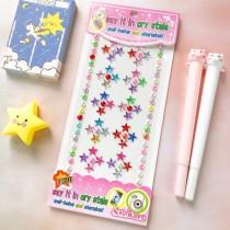 3 Sheets Colourful Flower Pearl DIY Crystal Rhinestone Sticker Jewels Gems Sticker Set for Kids