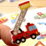 4 Sheets Cartoon Vehicle Cars 3D Foam Puffy Sticker for Kids Toddler