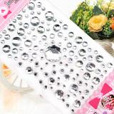 100PCS Colourful Circles DIY Crystal Rhinestone Sticker Jewels Gems Sticker Set for Kids