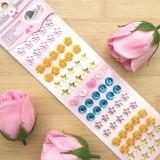 75PCS Colourful Flower Pearls DIY Crystal Rhinestone Sticker Jewels Gems Sticker Set for Kids