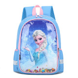 Students Primary School Backpack Cartoon Frozen Princess Waterproof Schoolbags