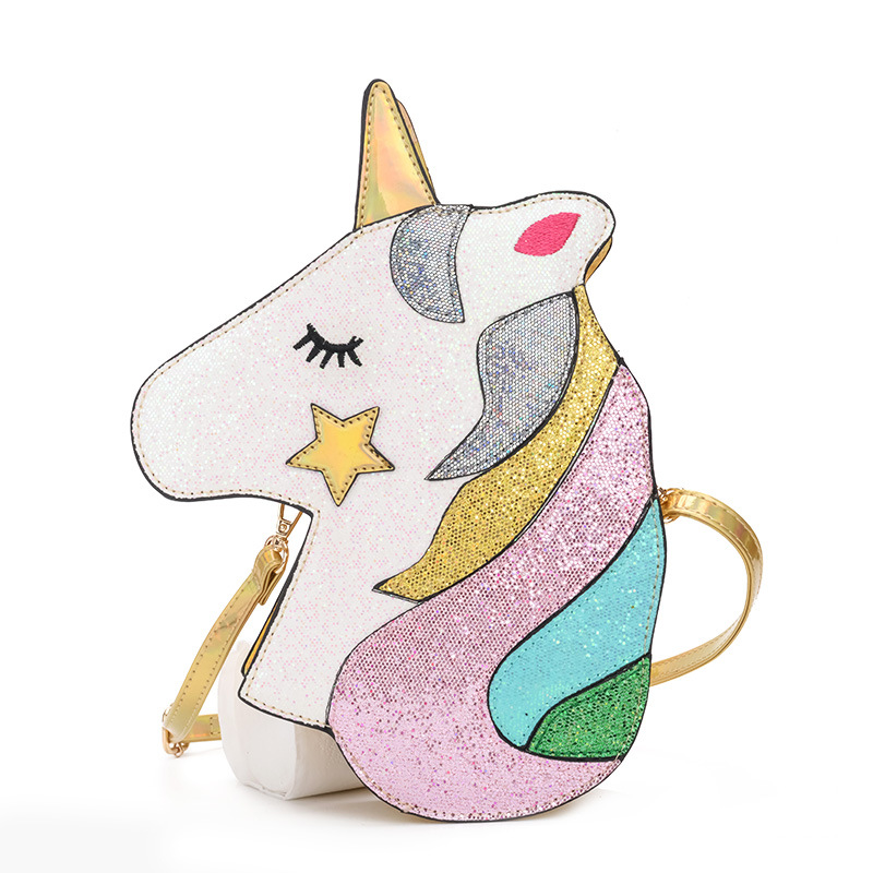 3D Dazzling Unicorn Shoulder Bags
