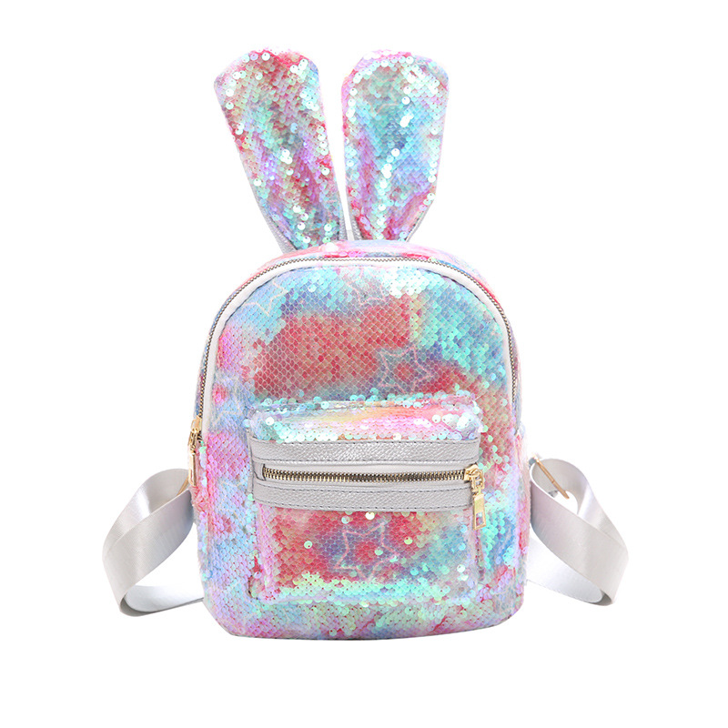 Sequins Rabbit Ears Backpacks Bag