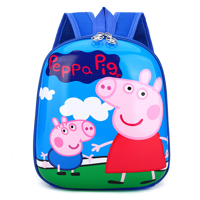 Kindergarten School Backpack Cute Peppa Pig Eggshell Backpack For Toddlers Kids