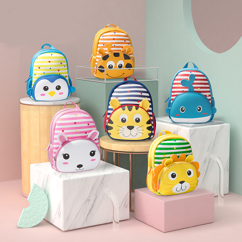 Kindergarten School Backpack 3D Cute Animals Schoolbags For Toddlers