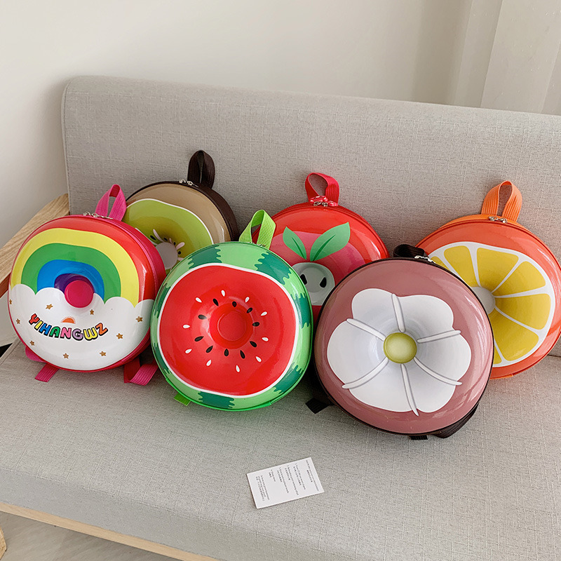 Toddlers Kids Fruits Orange Watermelon Kiwifruit Eggshell Backpack Fashion Bags