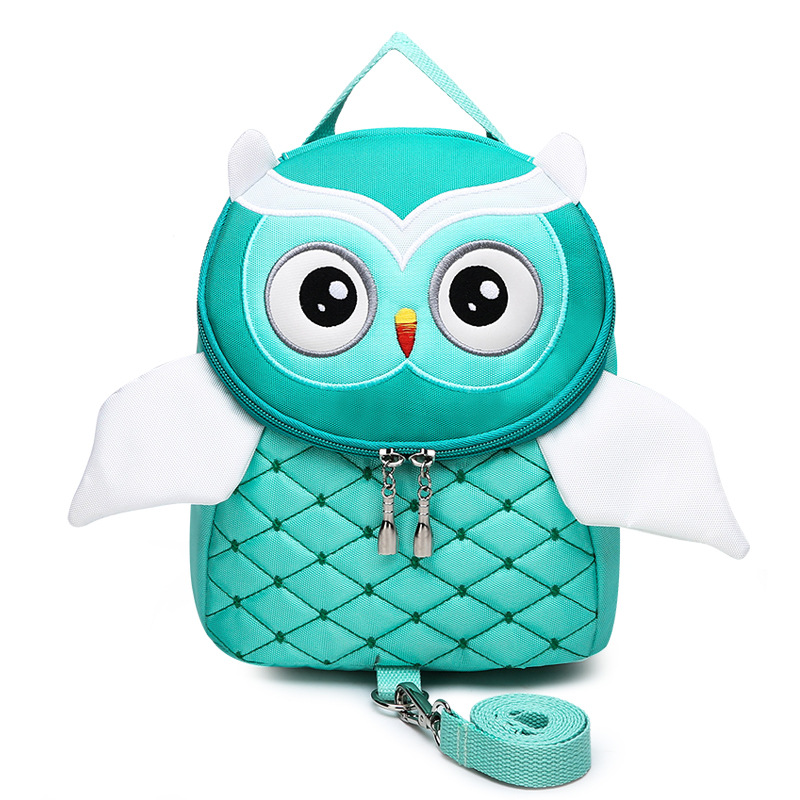 Kindergarten School Backpack Cartoon Owl Wing Waterproof Schoolbags For Toddlers Kids