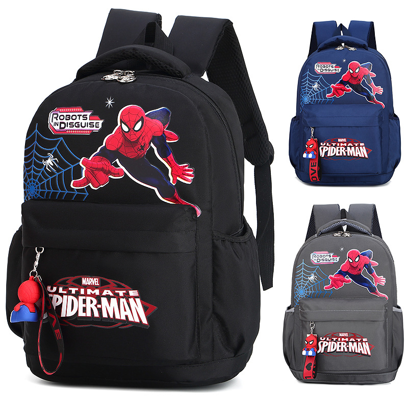 Students Primary School Backpack Cartoon Spider Man Waterproof Schoolbags