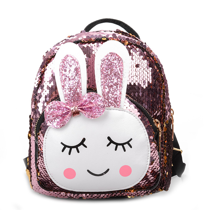 Fashion Cute Sequins Bowknot Rabbit Backpacks