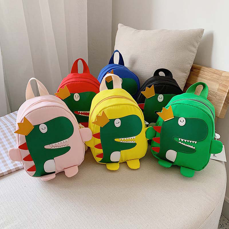 Kindergarten School Backpack 3D Crown Dinosaur Soft Schoolbags For Toddlers