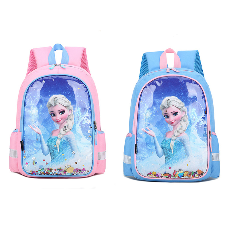Students Primary School Backpack Cartoon Frozen Princess Waterproof Schoolbags