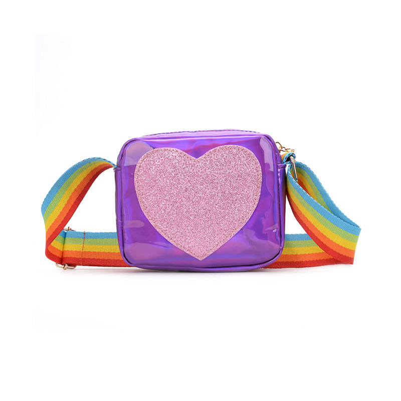 Sequins Heart Love Rainbow Shoulder Bags