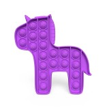 Rainbow Unicorn Pony Pop It Fidget Toy Push Pop Bubble Sensory Fidget Toy Stress Relief For Kids & Adult