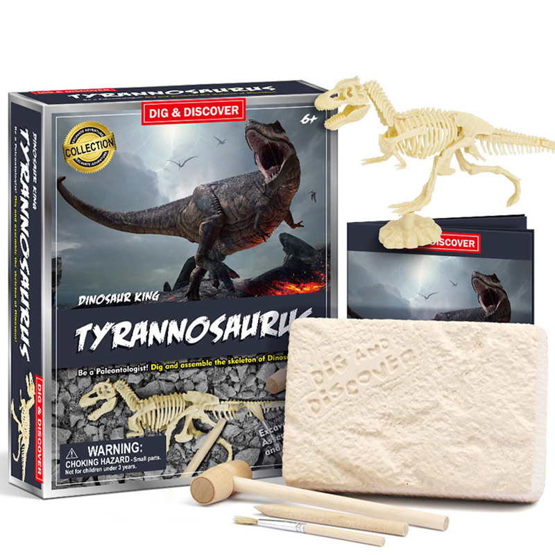 Tyrannosaurus Mammoth Bull Building Toy Discovery Dig Kit Science Education Toys For Kids Teens