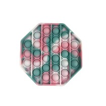 Octagon Tie-dyed Color Pop It Fidget Toy Push Pop Bubble Sensory Fidget Toy Stress Relief For Kids & Adult