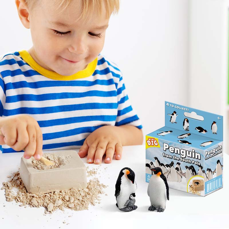 Cute Penguin Discovery Dig Kit Science Education Toys For Kids Teens
