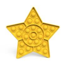 Star Push Pop It Fidget Toy Pop Bubble Sensory Fidget Toy Stress Relief For Kids & Adult