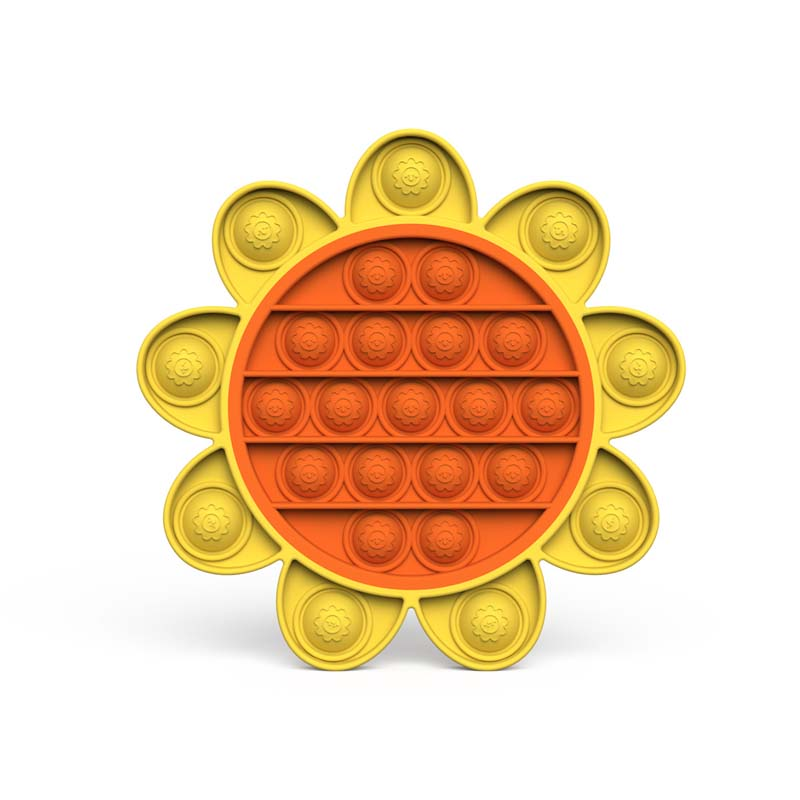 Sun Flower Pop It Fidget Toy Push Pop Bubble Sensory Fidget Toy Stress Relief For Kids & Adult