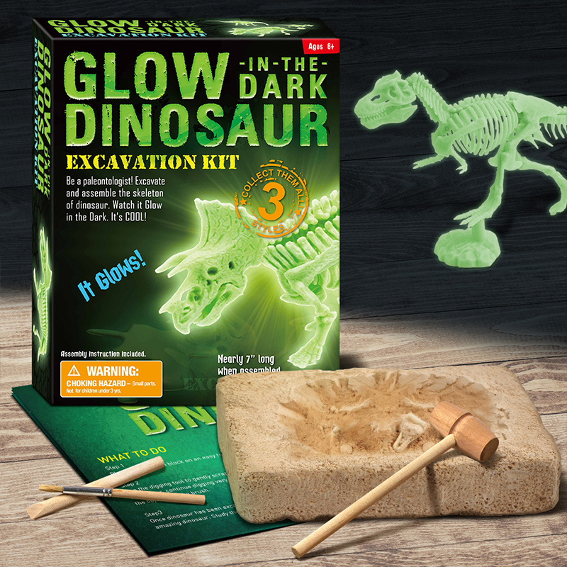 Luminous Dinosaur Triceratops Discovery Dig Kit Science Education Toys For Kids Teens