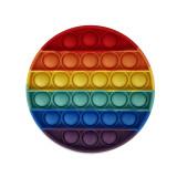 Rainbow Circle Geometry Pop It Fidget Toy Push Pop Bubble Sensory Fidget Toy Stress Relief For Kids & Adult
